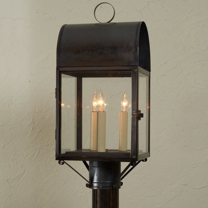 Arched outdoor post light dark colors candelabra and colonial arched outdoor post light from colonial times to today this pocket lantern has graced aloadofball Image collections