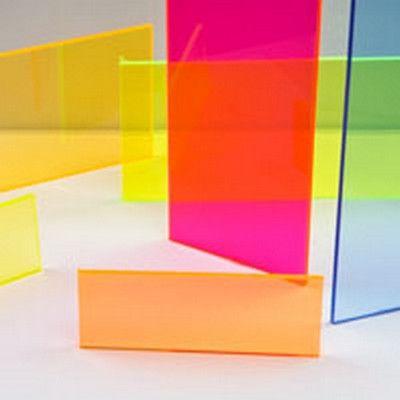 Acrylic Fluorescent Sheeting U S Plastic Corp Colored Acrylic Sheets Acrylic Sheets Acrylic Sculpture