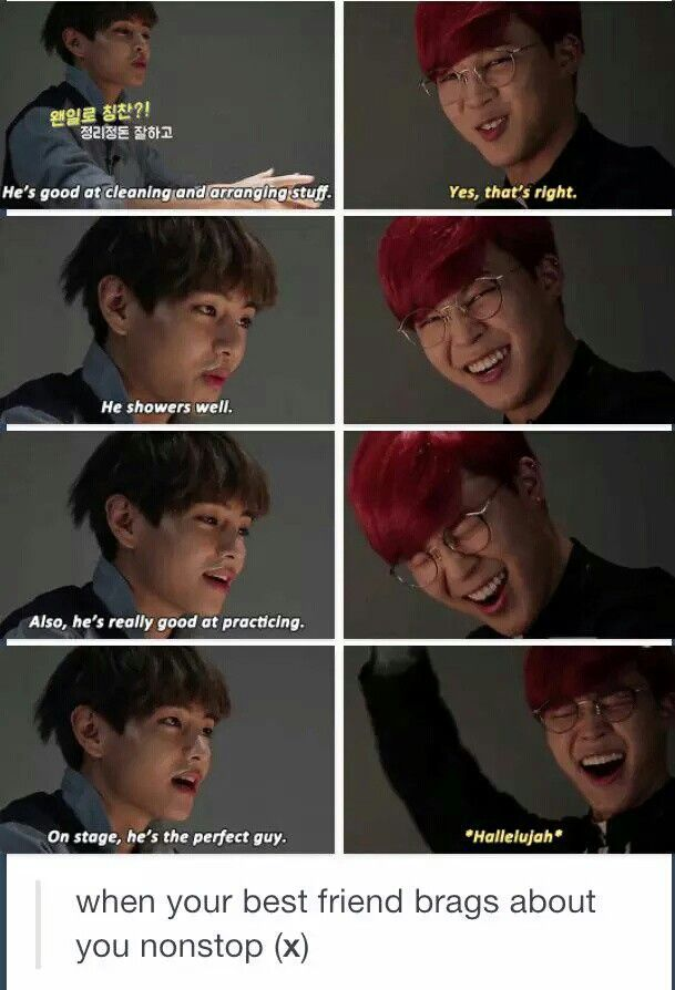 BTS meme] When Your Best Friend Brags About You Nonstop