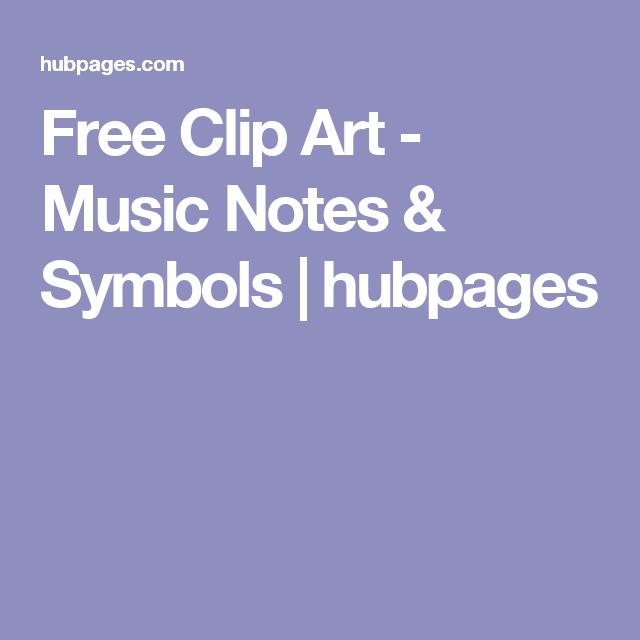 Free Clip Art Music Notes Symbols Sewing Pinterest Music