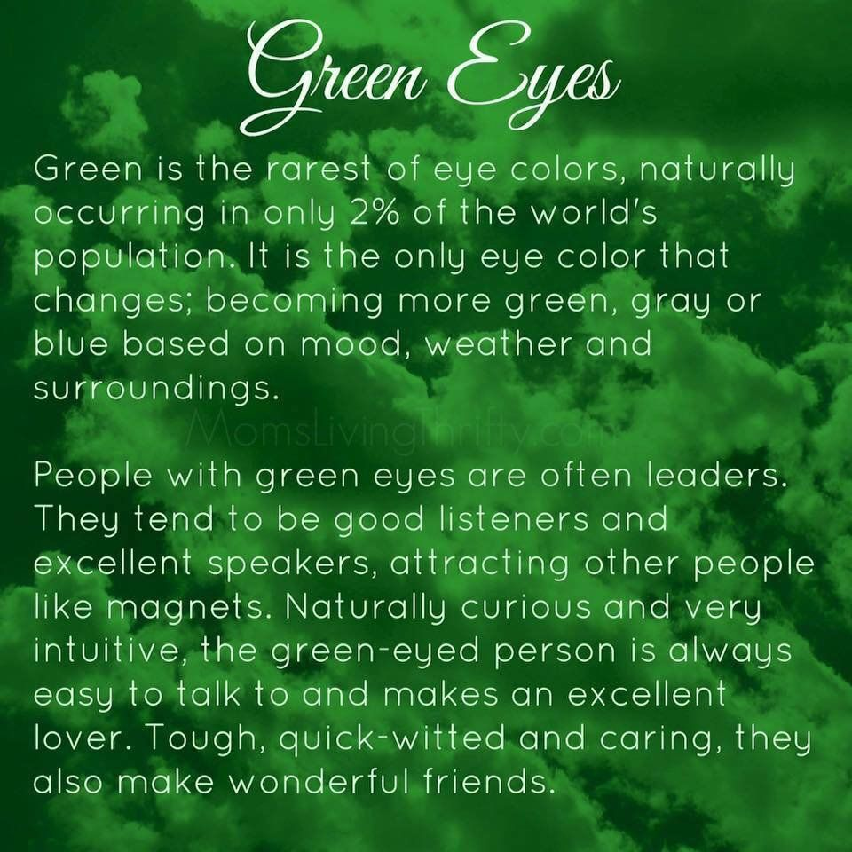 Truth Green Eyes | Quotes | Green eyes facts, Green eye ...