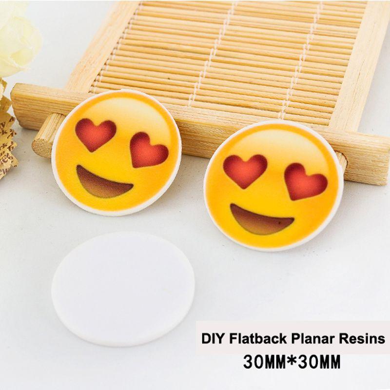 50pcs/lot Cartoon LOVE Expression Resin Flatback DIY Craft Embellishments Planar Resin for Home Decoration Accessories DL-503