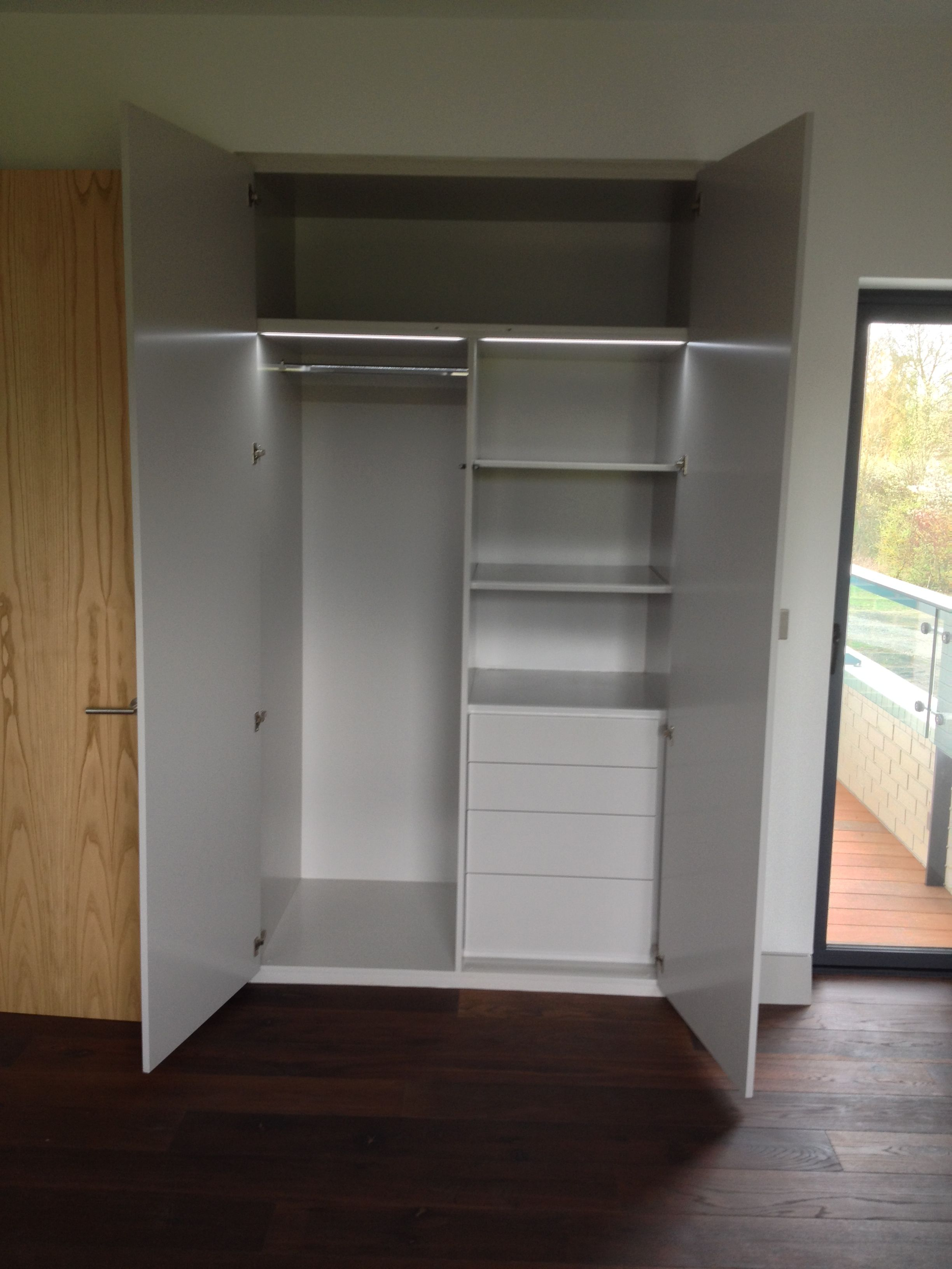 overhead bedroom furniture. Built-in Wardrobe Space With Overhead Area - Bespoke Design By Anthony Mullan Furniture. Bedroom Furniture E