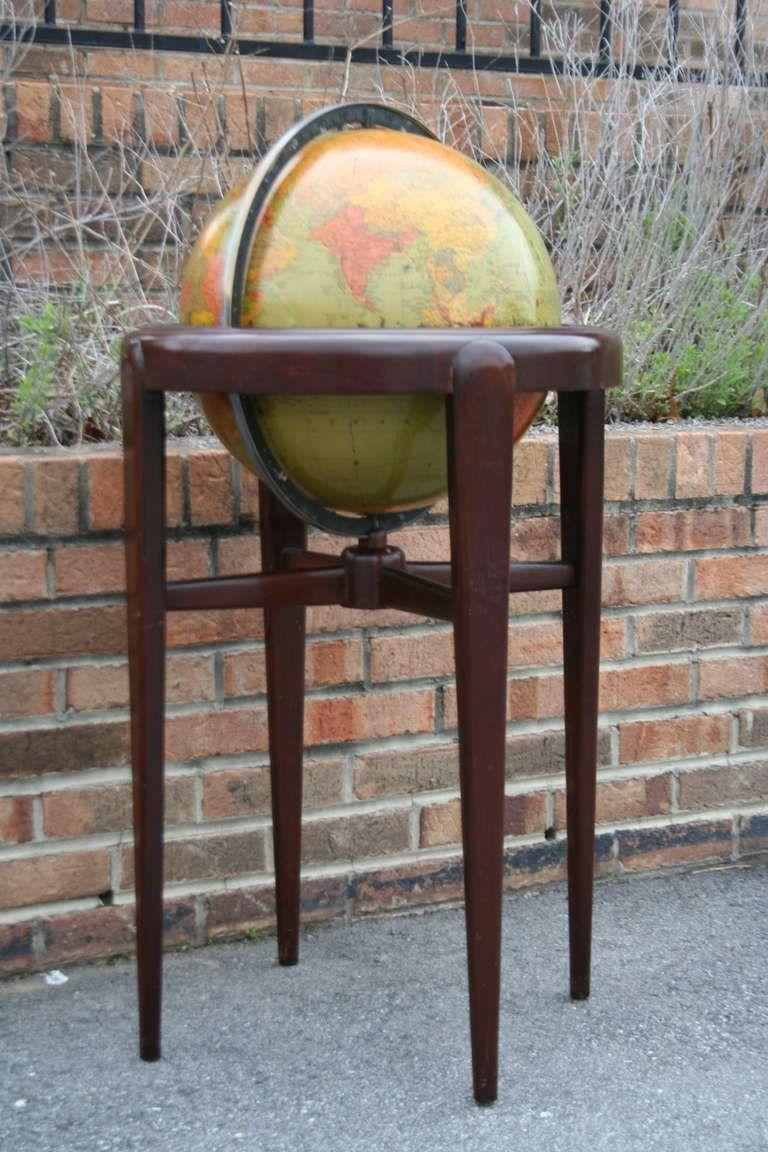 A Vintage Replogle Mahogany Floor Globe image 2