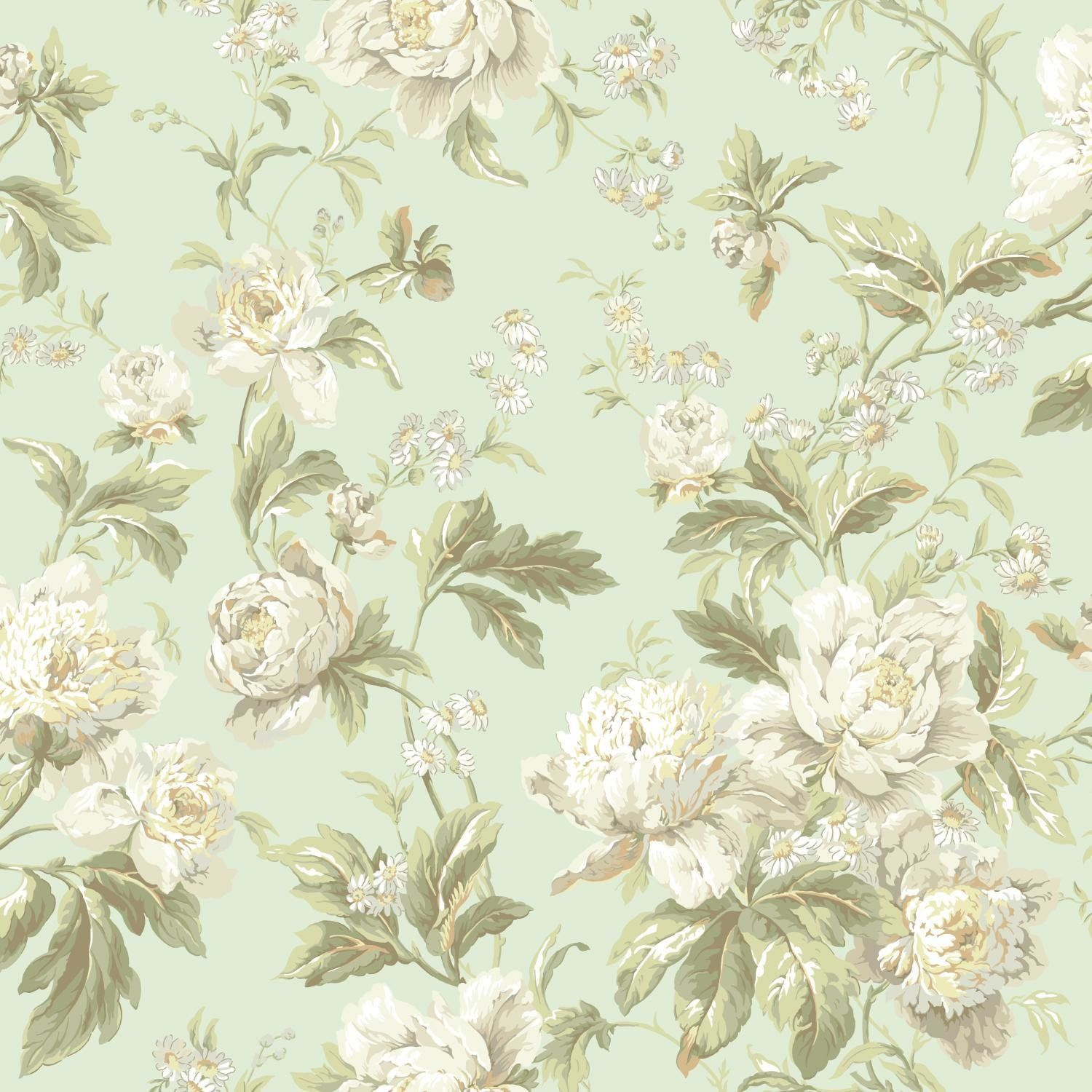 """Waverly Forever Yours 33' x 20.5"""" Floral and Botanical 3D"""