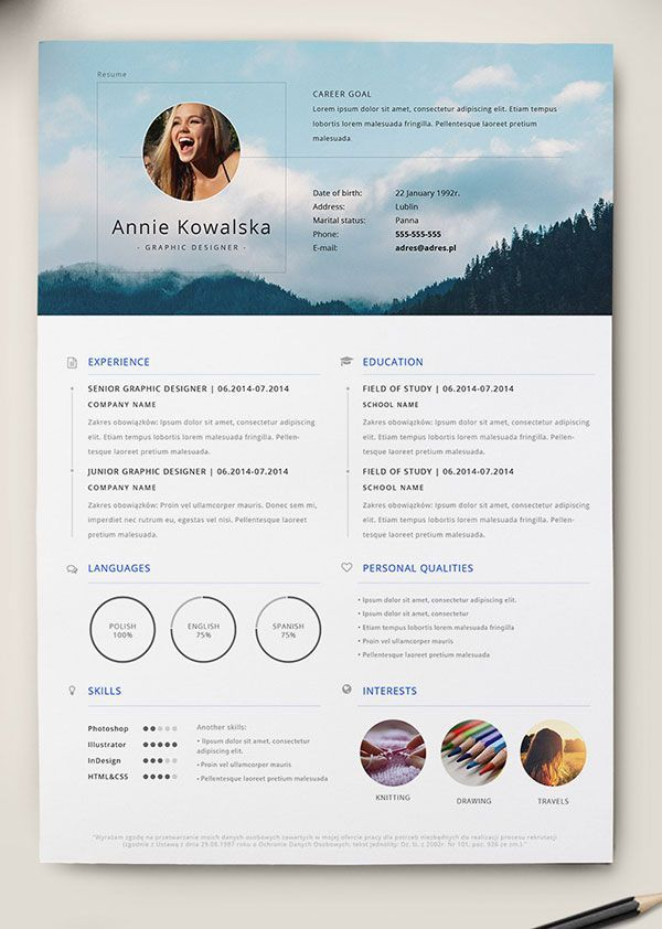 10 Best Free Resume (CV) Templates In Ai, Indesign, Word U0026 PSD Formats  Designbolts.com