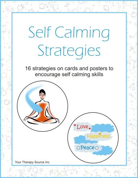 Self Calming Strategies | Classroom Resources | Self