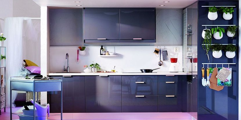 Awesome Colorful Kitchen With Soft Purple Themed And Black Cabinets Ideas Colorfulkitchen Kitchens Kitchencolor Kitchendesign Kitchenisland
