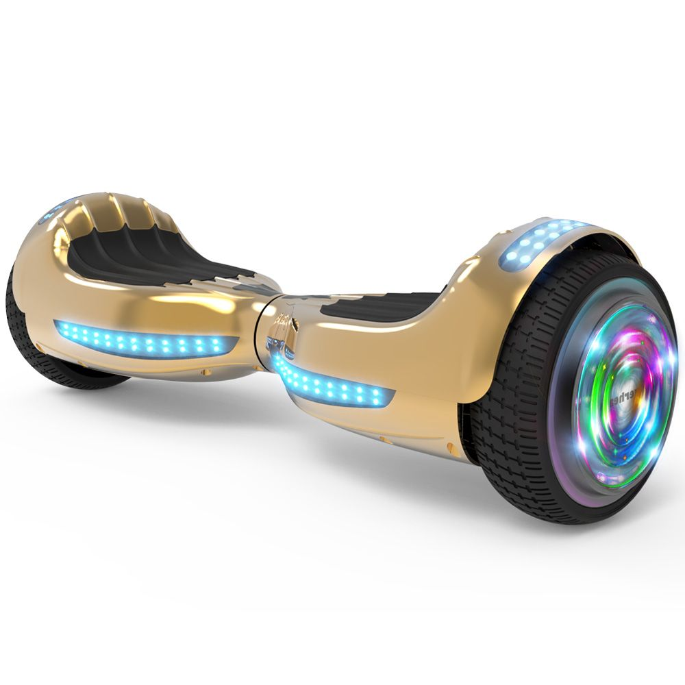 Flash Wheel Ul 2272 Certified Hoverboard 6 5 Bluetooth Speaker With Led Light Self Balancing Wheel Electric Scooter Chrome Gold Walmart Com In 2020 Electric Scooter Hoverboard Cheap Electric Scooters