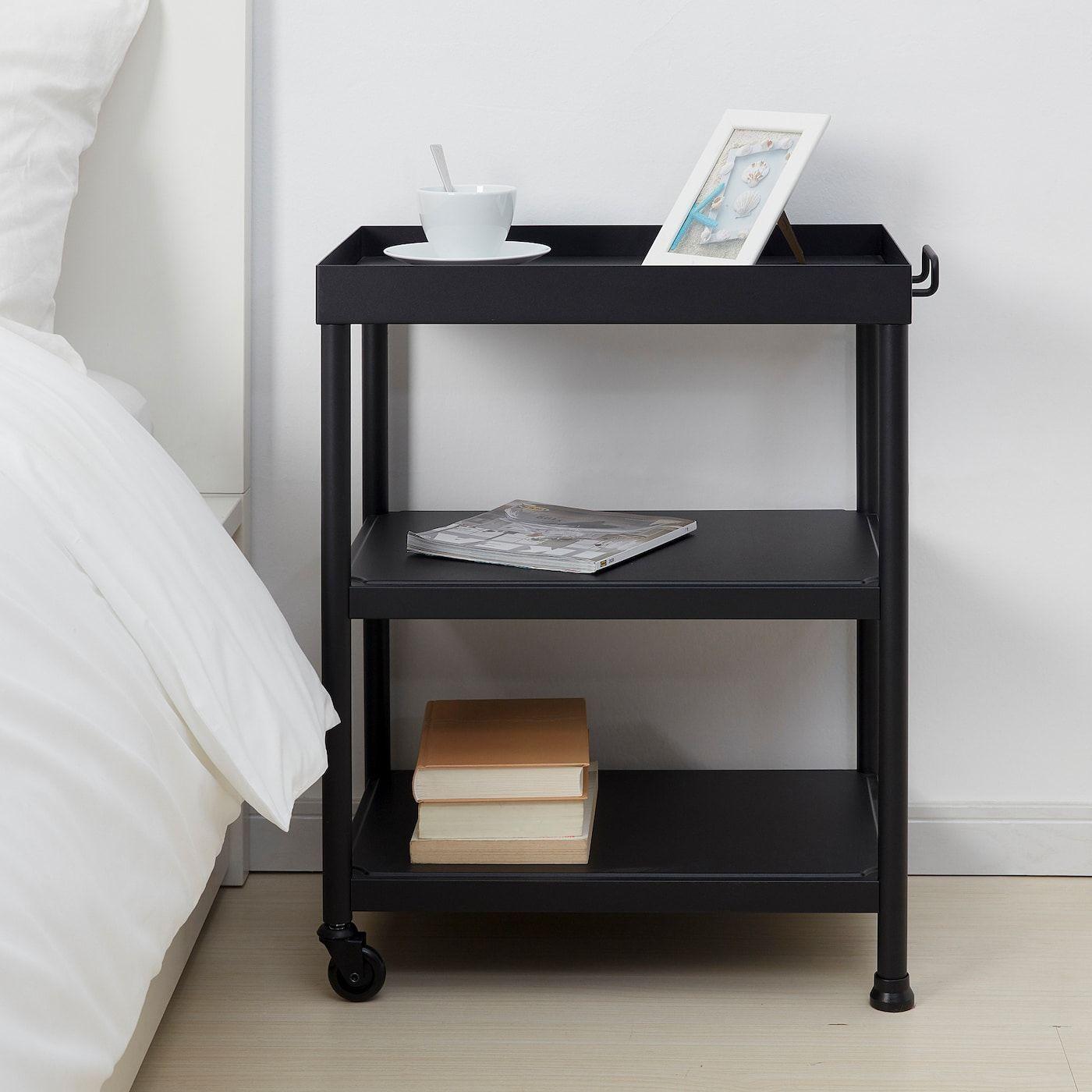 Kornsjo Side Table Black 195 8x133 4 50x35 Cm Ikea Black Side Table Side Table Side Tables Bedroom [ 1400 x 1400 Pixel ]