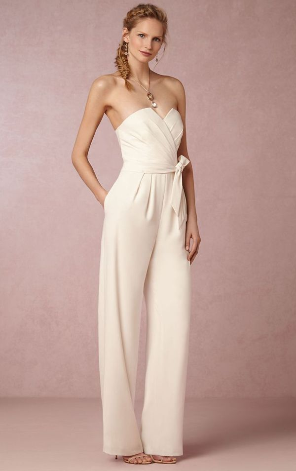 25 Unconventional Bridal Pants Suits For The Modern Bride Wedding PantsuitTomboy DressWedding