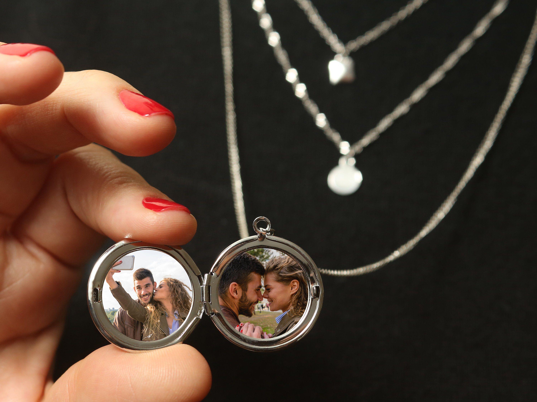 Personalized Locket Necklace Custom Necklace Photo Locket