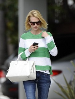 January Jones in the Cotton Pullover