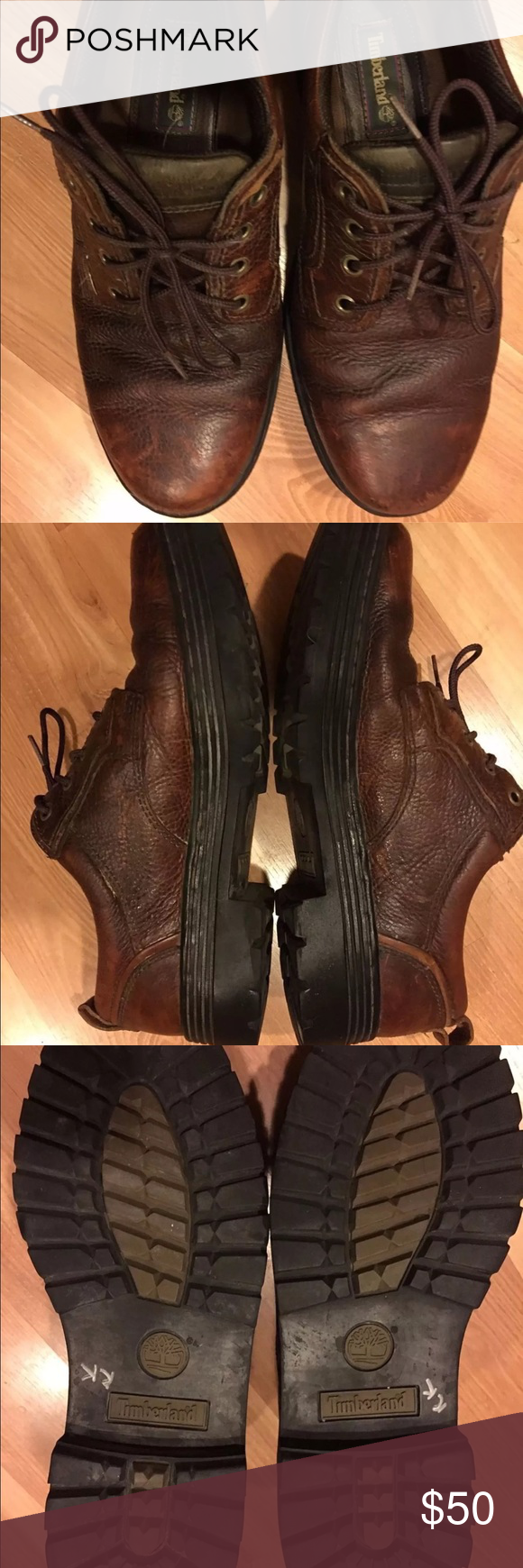 Men's Timberland brown leather size 12M Timberland mens