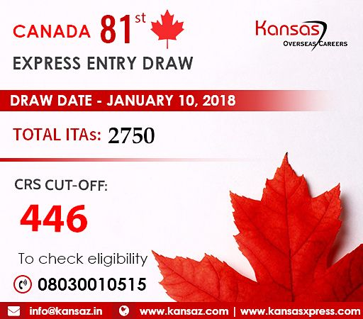 Canada Express Entry 81st Draw was conducted on January 10th , 2018 - best of invitation letter sample cic