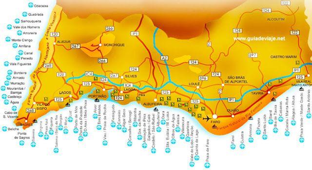 Algarve Beaches Map In Vino Viajas  Veja porque Lagoa no Algarve
