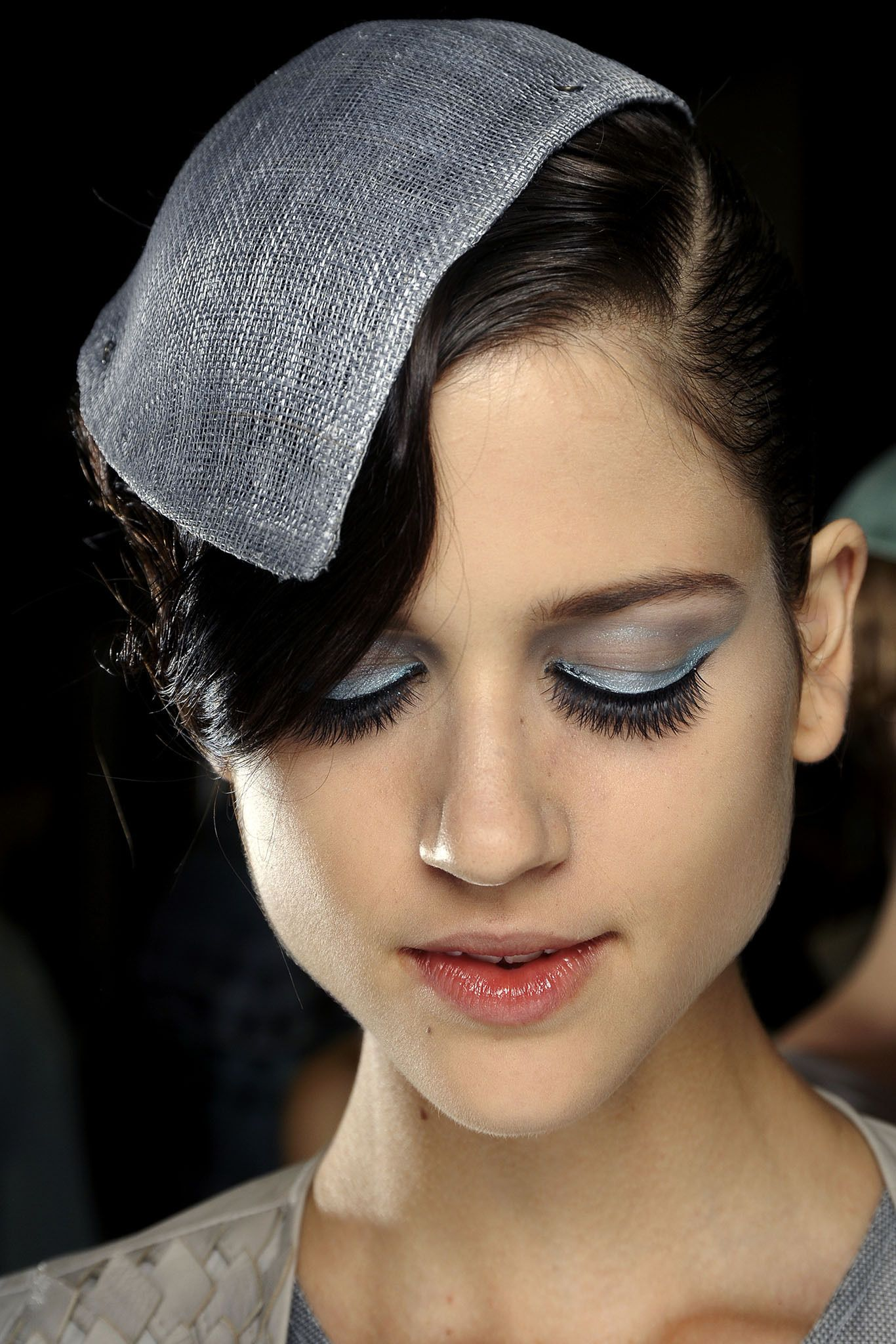 All about the eyes at Armani Spring 2013