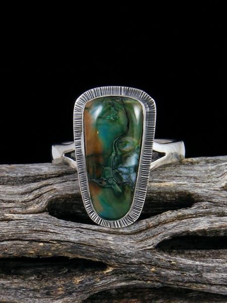 Native American Fossilized Mammoth Tooth Ring, Size 8 | good