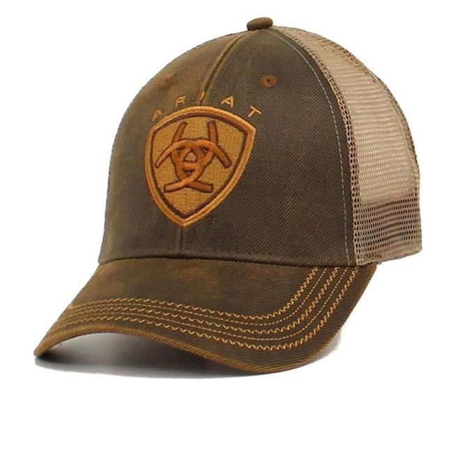 New Lazy J Heather Gray /& White Leather Mafia Patch Cap  Rodeo Trucker Mesh