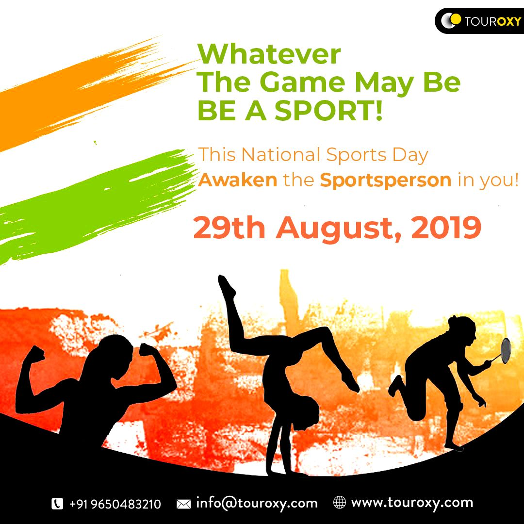 This National Sports Day Awaken The Sportsperson In You National Sports Day Sports Day Sports Day Poster