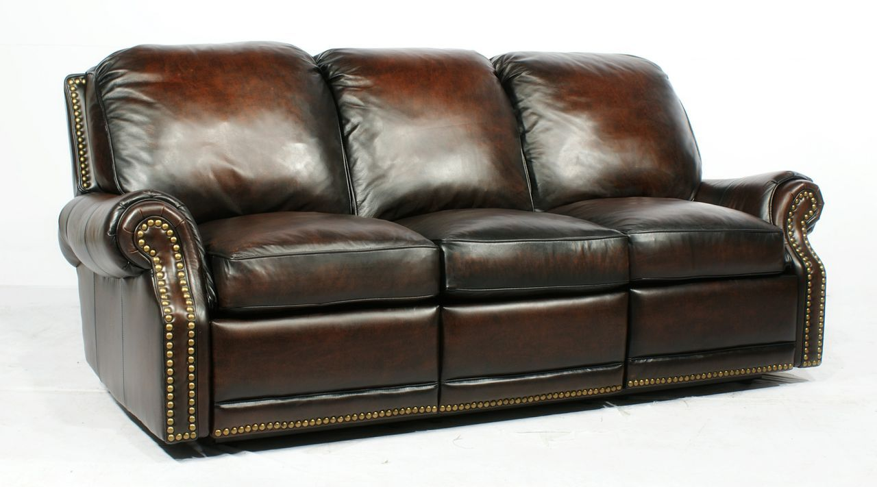 Ordinaire Barcalounger Recliner Sofa | Barcalounger Leather Premier II Stetson Coffee  3 Seat Reclining Sofa