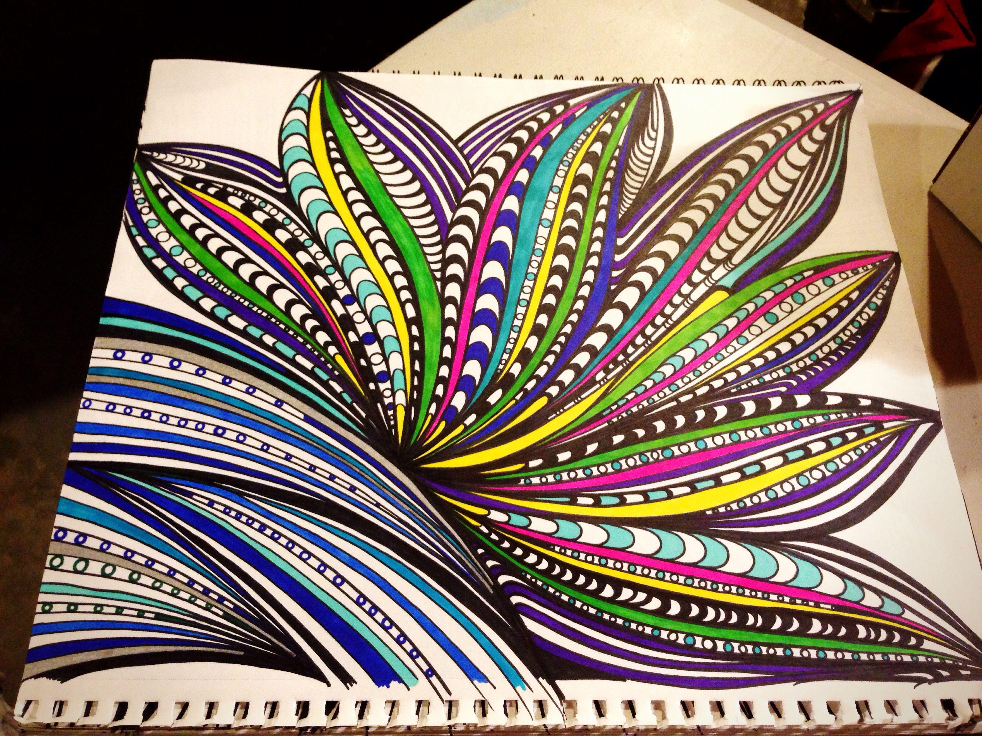 Zen Doodle 611152611916295071 Bunte Zeichnungen 3