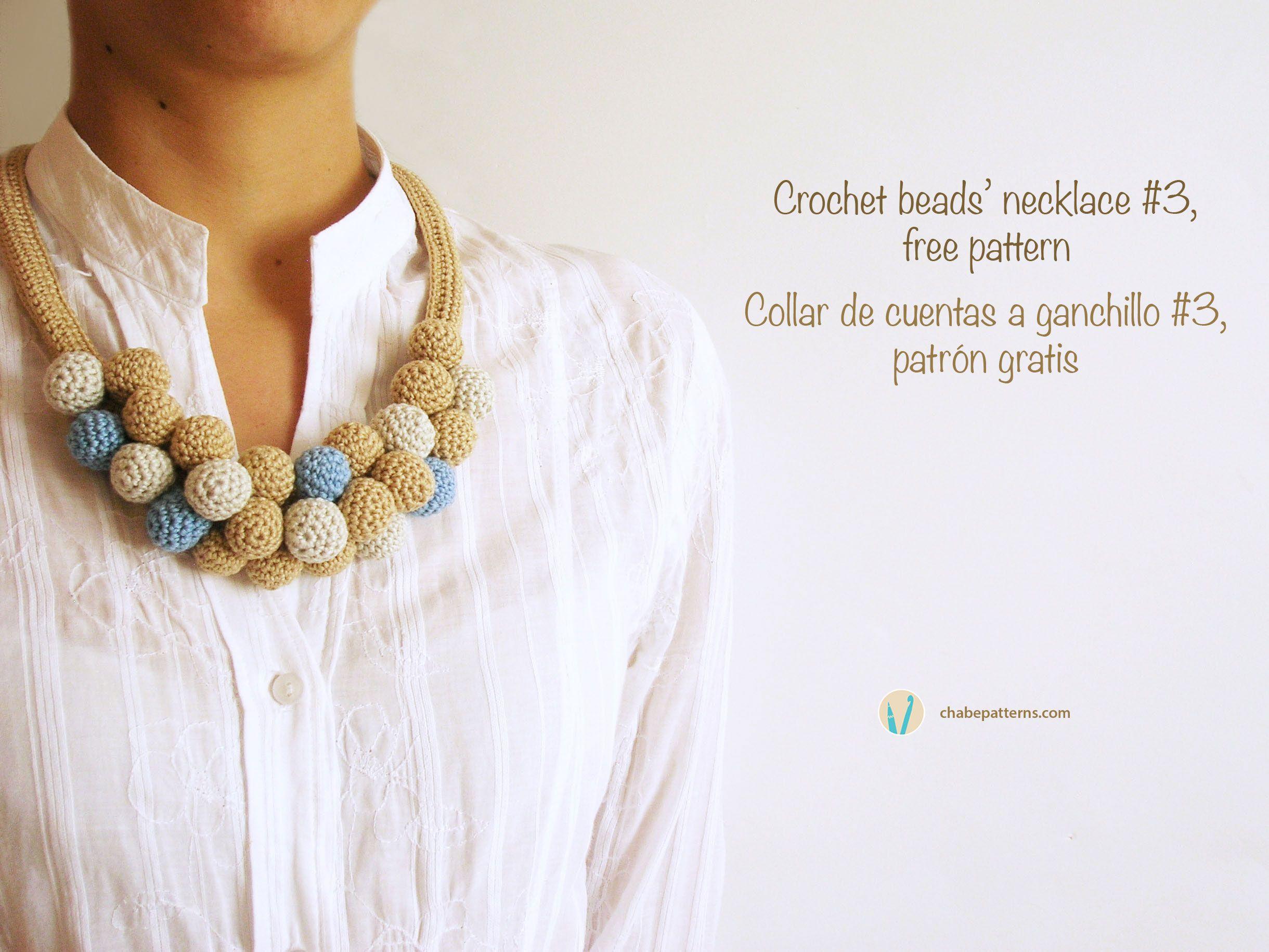 Moderno Patrón Libre Del Collar Crochet Festooning - Manta de Tejer ...