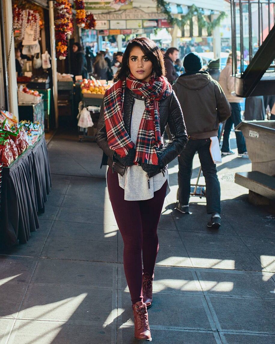 Regram! Sunday strolls with @khush_a_lush—you look so cozy in your #StitchFix scarf & fleece-lined leggings. Happy weekend!