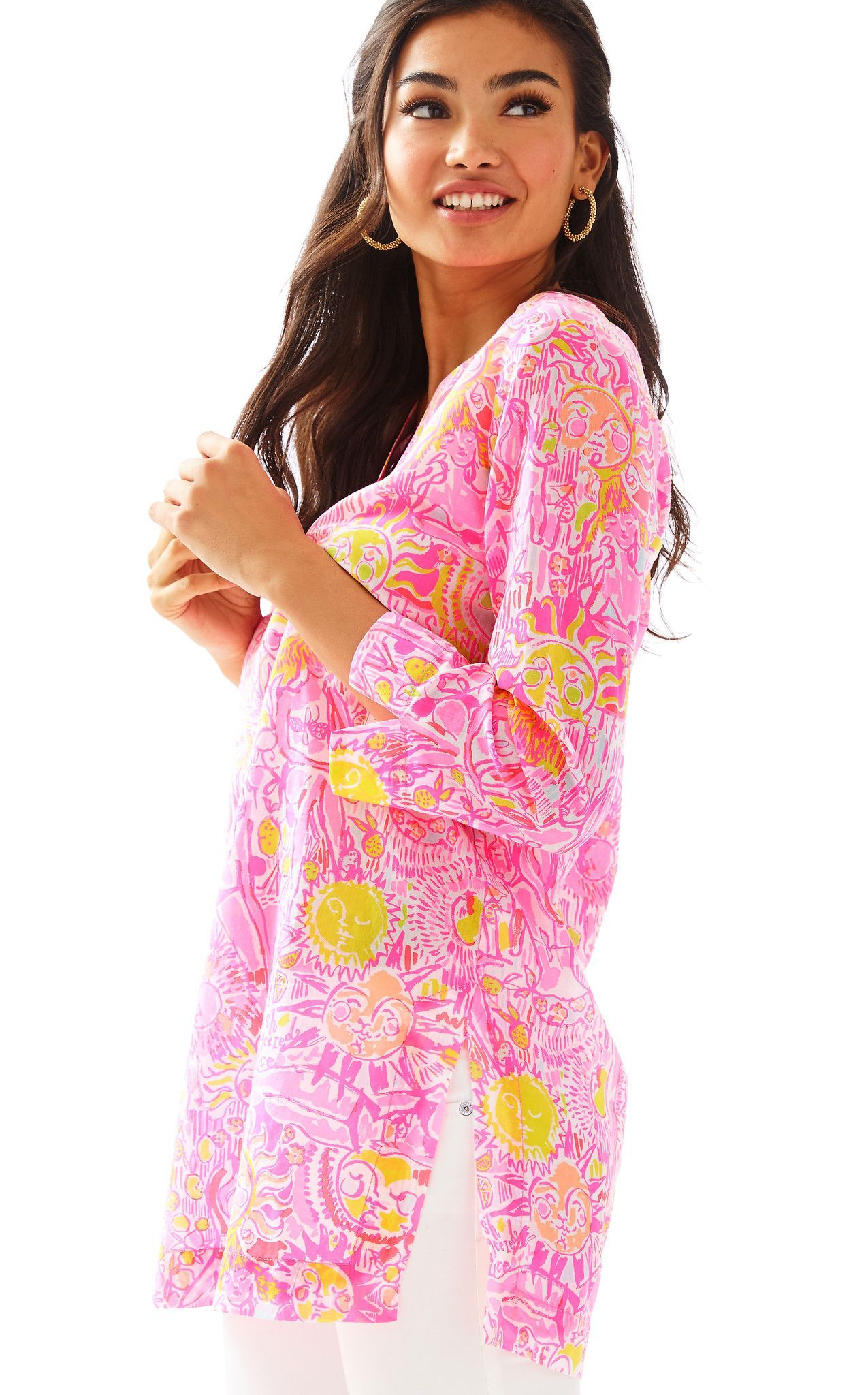 MARCO ISLAND TUNIC - PINK POUT MORE KINIS IN THE KEYS BY LILLY PULITZER