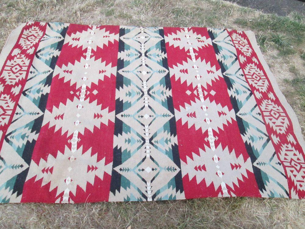 "NAVAJO Native American Indian Rug  LARGE - 75"" x 100"""