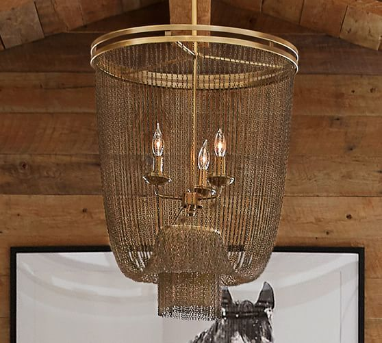 pottery barn overstock items atherton chainmail chandelier pottery barn 599 overall 22