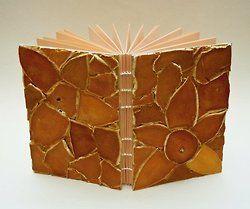 Coptic-Bound Book with Orange Peel Cover