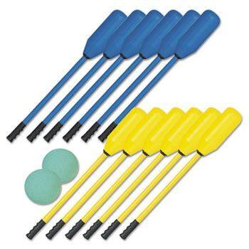 Soft Polo Set, Rhino Skin, Blue And Yellow, 12 Sticks/2 Balls
