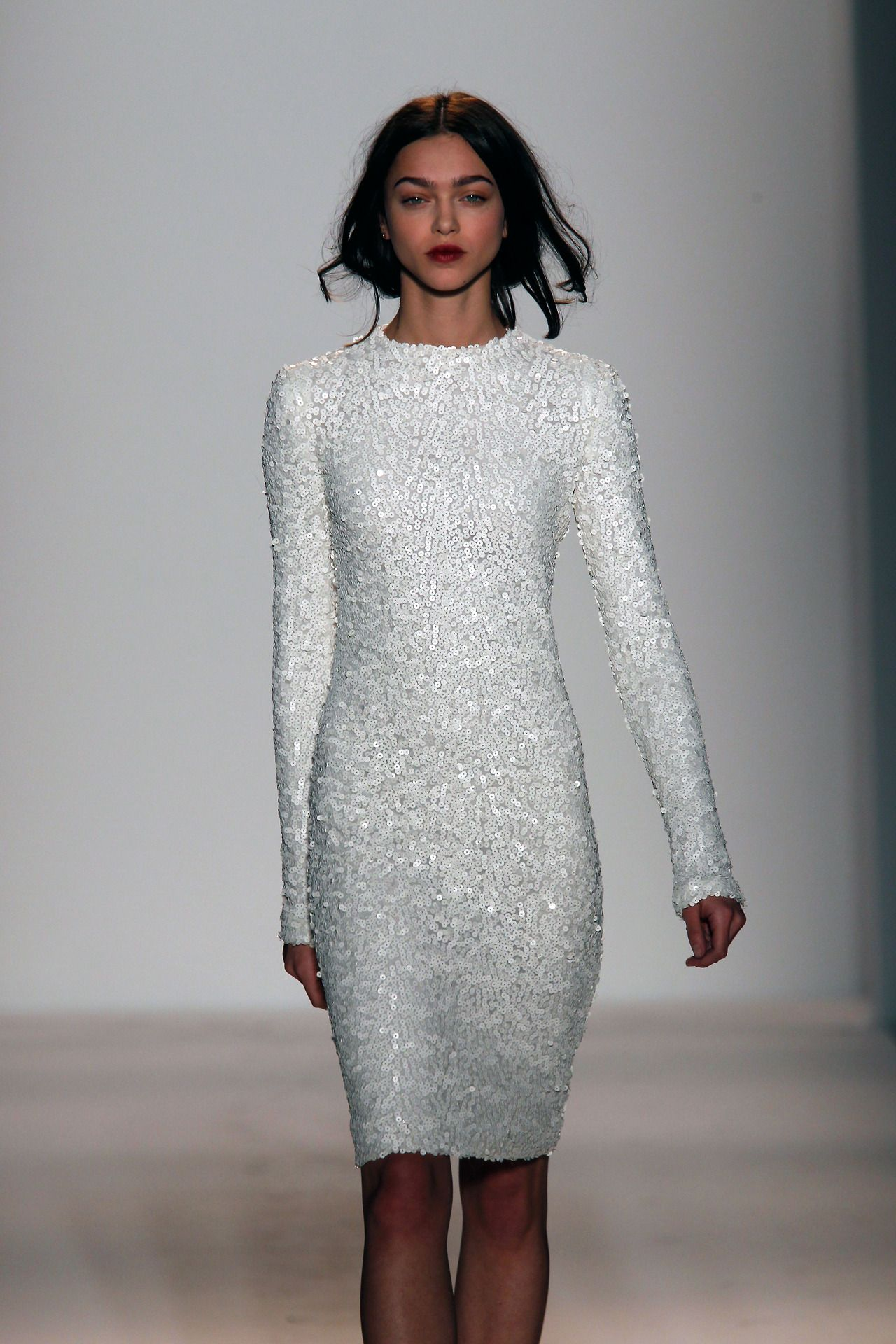 The Perfect Time For Honeymoon After The Wedding Dress White Sequin Dress Fashion Long Sequin Dress [ 1920 x 1280 Pixel ]