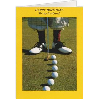 Happy birthday husband golf birthday card golf greeting cards happy birthday husband golf birthday card m4hsunfo Image collections