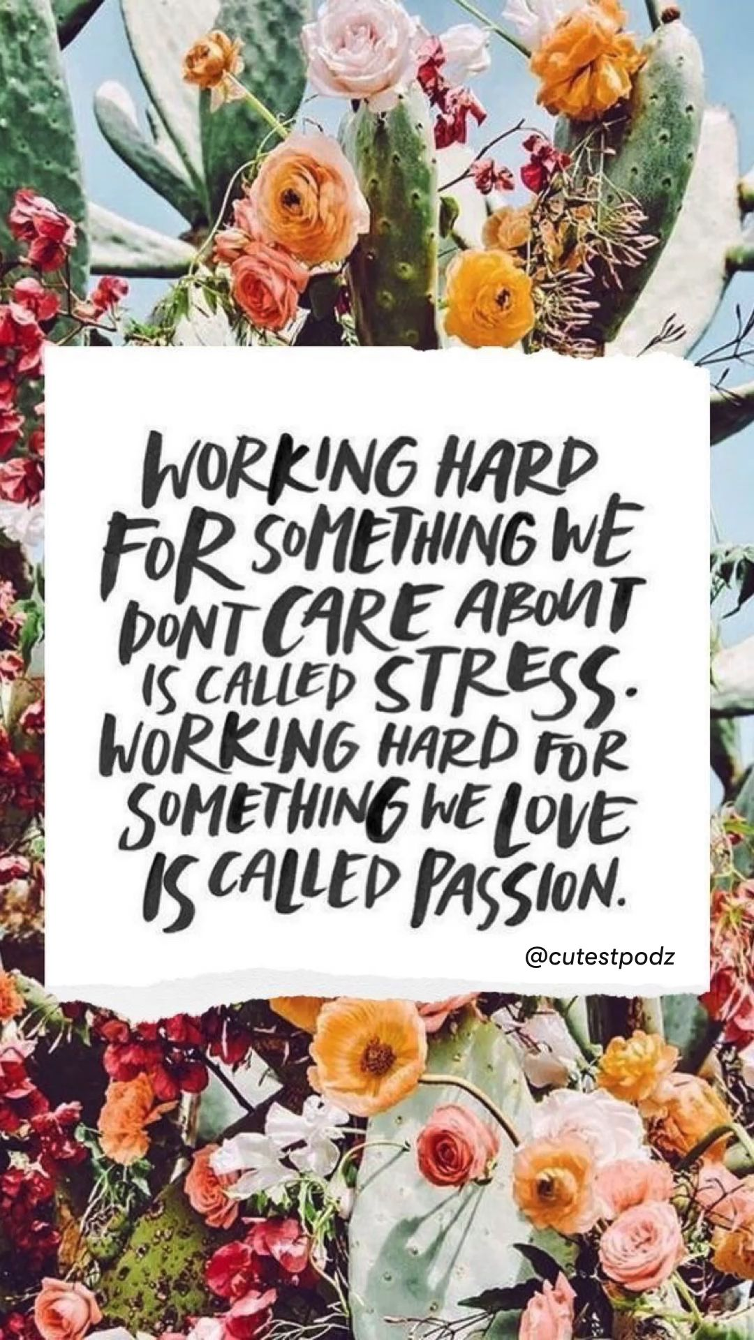 Do What you LOVE - Passion - Inspirational Quote