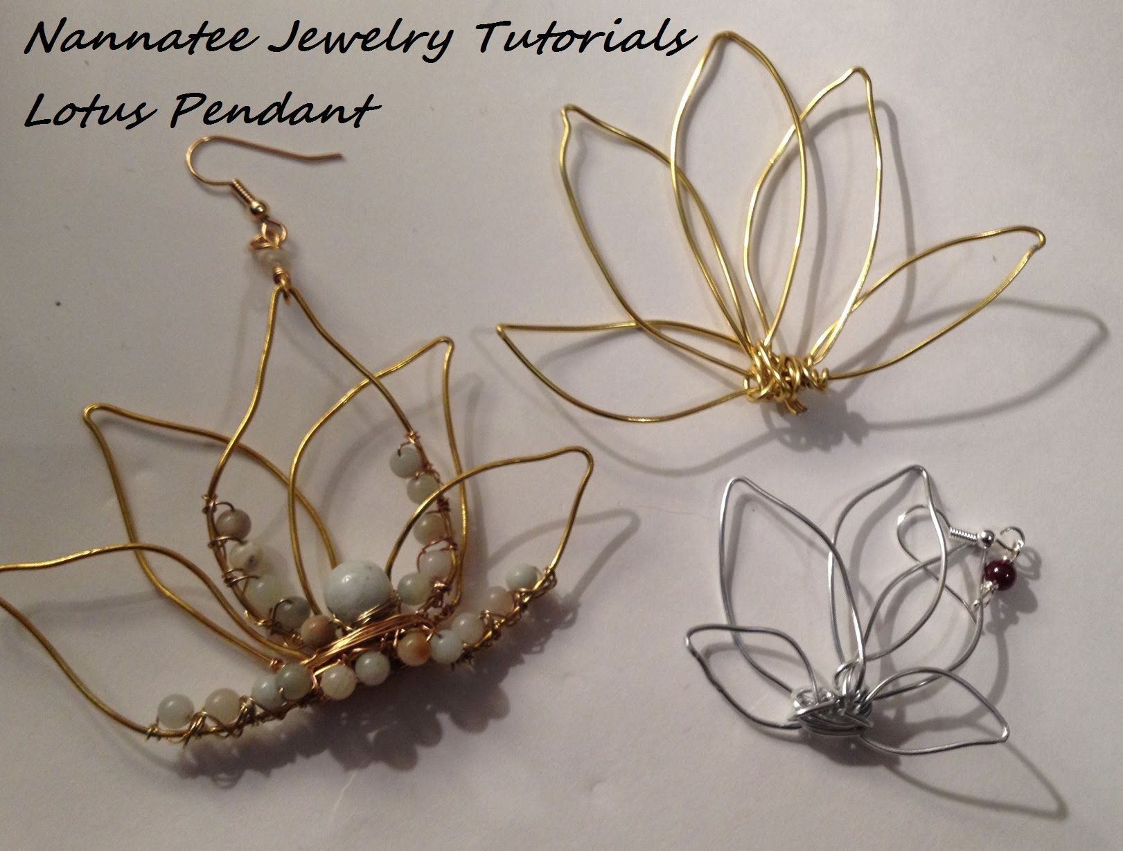A full length video tutorial to make a lotus shaped pendant. This ...