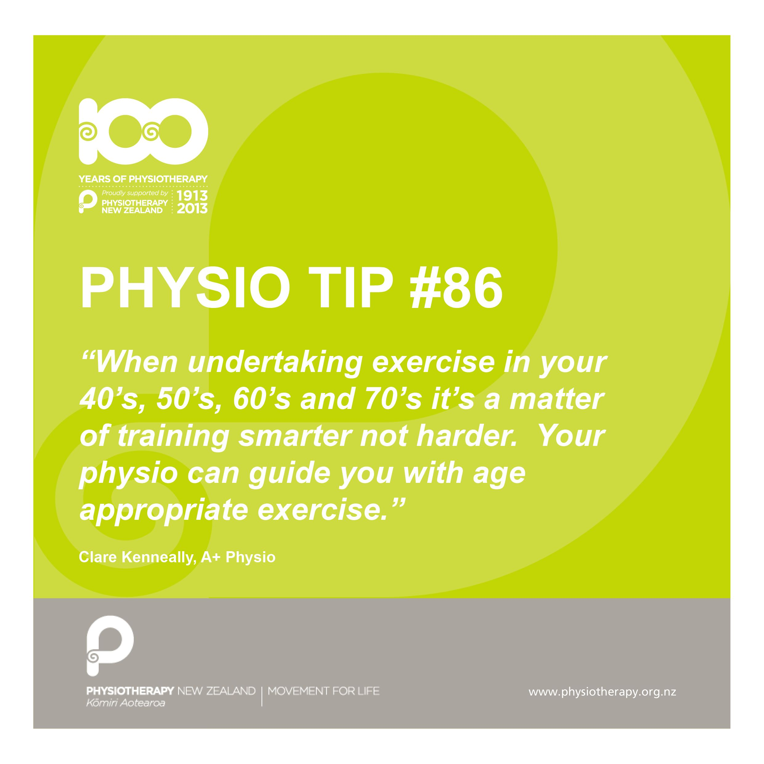 physio tip train smarter, not harder. Fisioterapia y