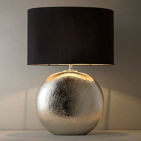Lamp For Living Room Buy John Lewis Benjamin Chromed Ceramic Table Online At Johnlewis