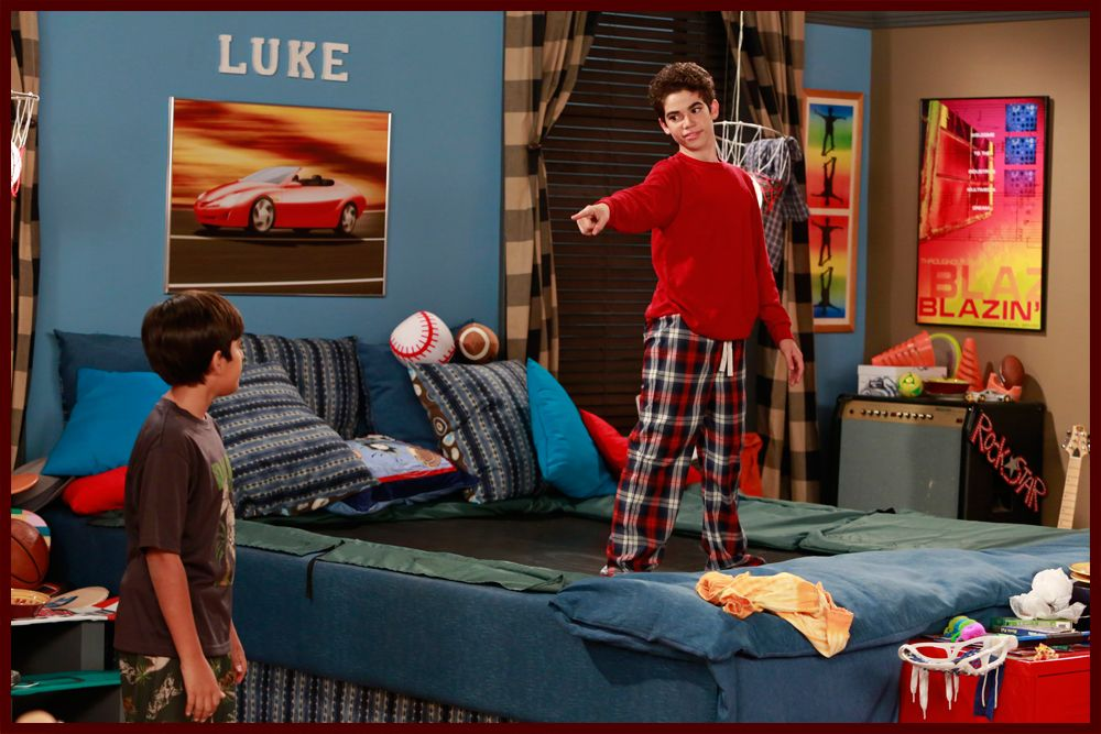 Look at his bed!! It's a trampoline!! Cameron boys