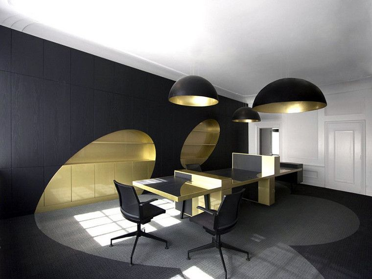 Золотисто черный интерьер чб pinterest bureau interieur и