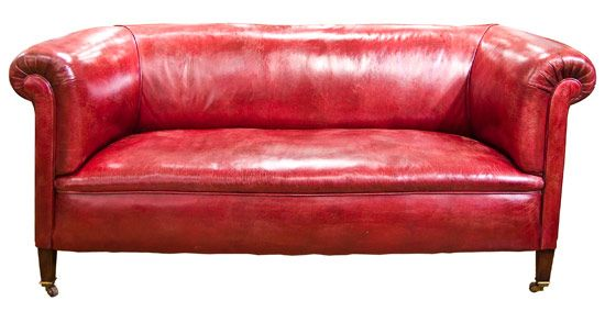 Edwardian Sofa Re-upholstered and Re-leathered c.1900