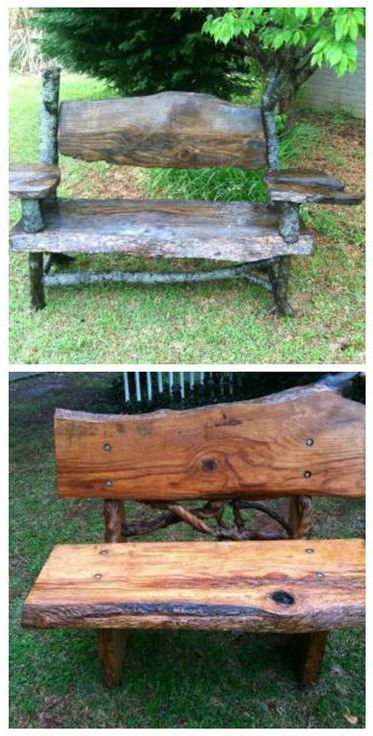 """Portable Lumber Mill DIY Bench Project. """" I love this product.I've started making furniture out of the wood I've cut and sold it as fast as I can make it. People have found out I have the mill and are now asking me to cut trees up they have and want to turn into furniture. My only advice is to make sure you buy the right chainsaw and to research it as much as possible.I did a lot of research and bought the right equipment and it works great."""" - King21573  from Atlanta, GA"""