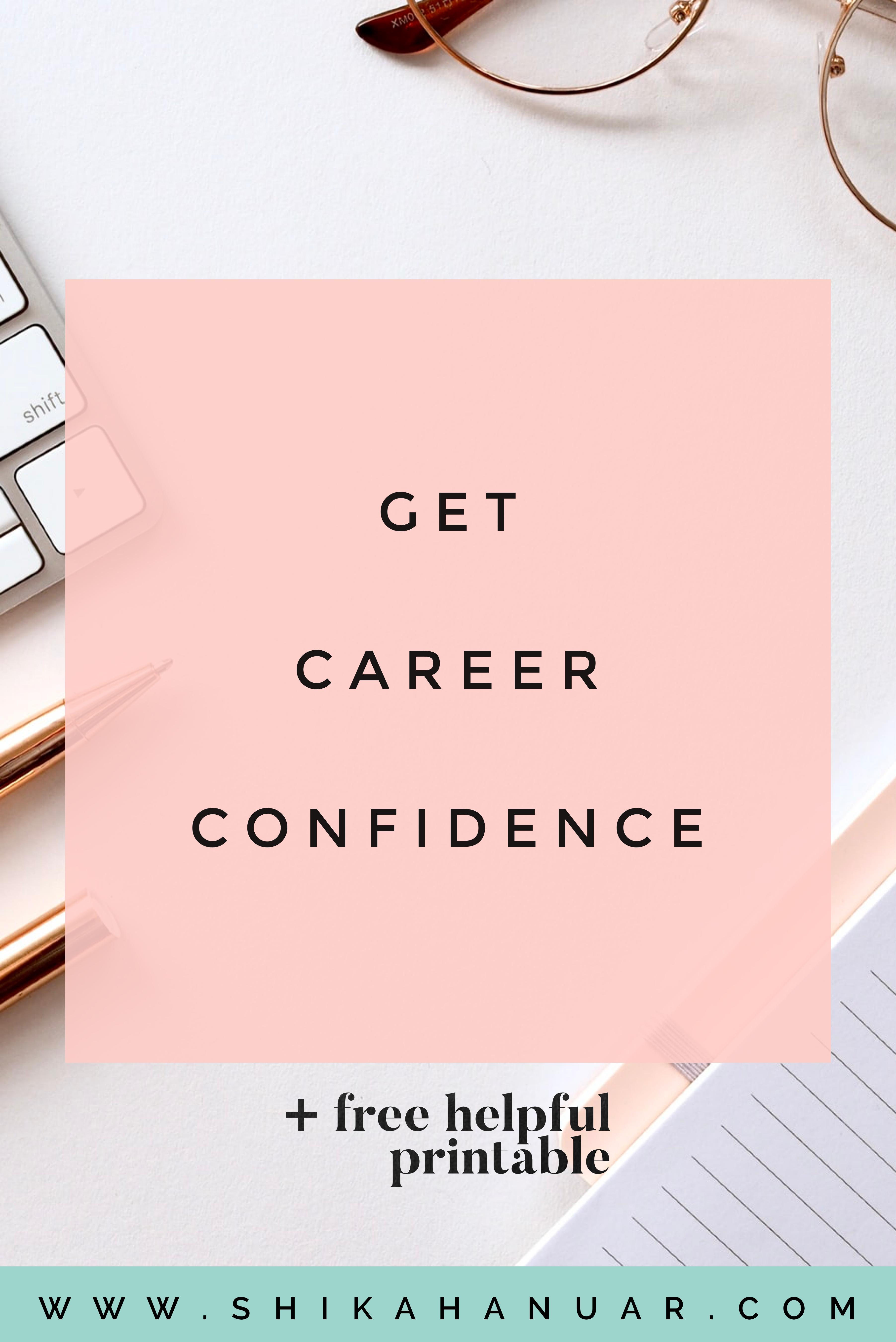 Free Printable Regain Career Confidence Now