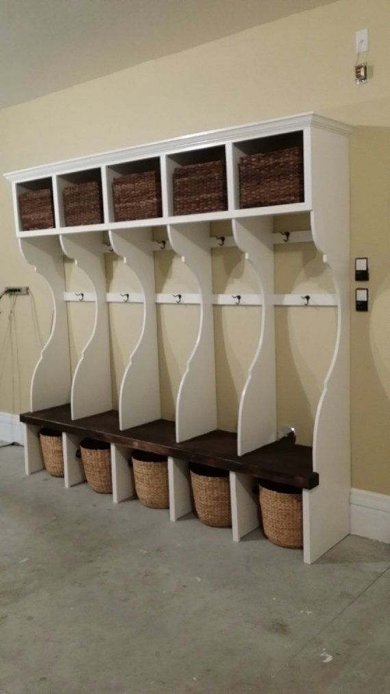 Amazing Handcrafted Custom Mudroom Garage Wall Unit Lockers For Download Free Architecture Designs Rallybritishbridgeorg