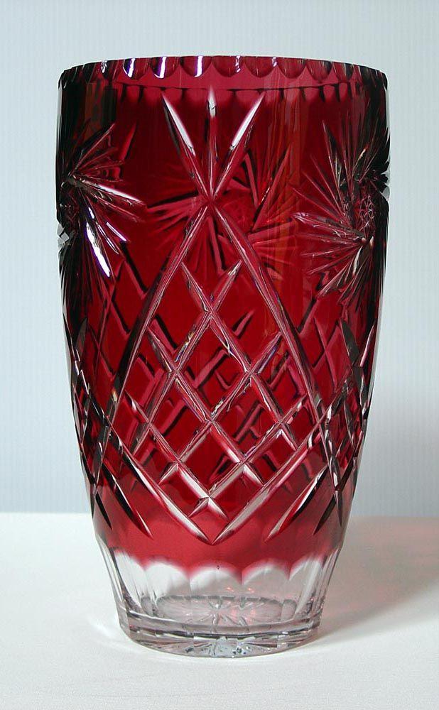 Caesar Crystal Pinwheel Vase Ruby Crystal Glass Pinterest
