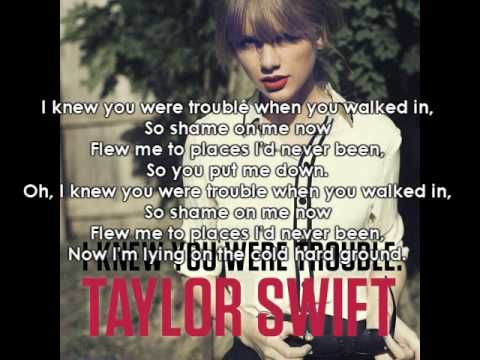 taylor swift i knew you were trouble with lyrics new single red don 39 t judge me just. Black Bedroom Furniture Sets. Home Design Ideas