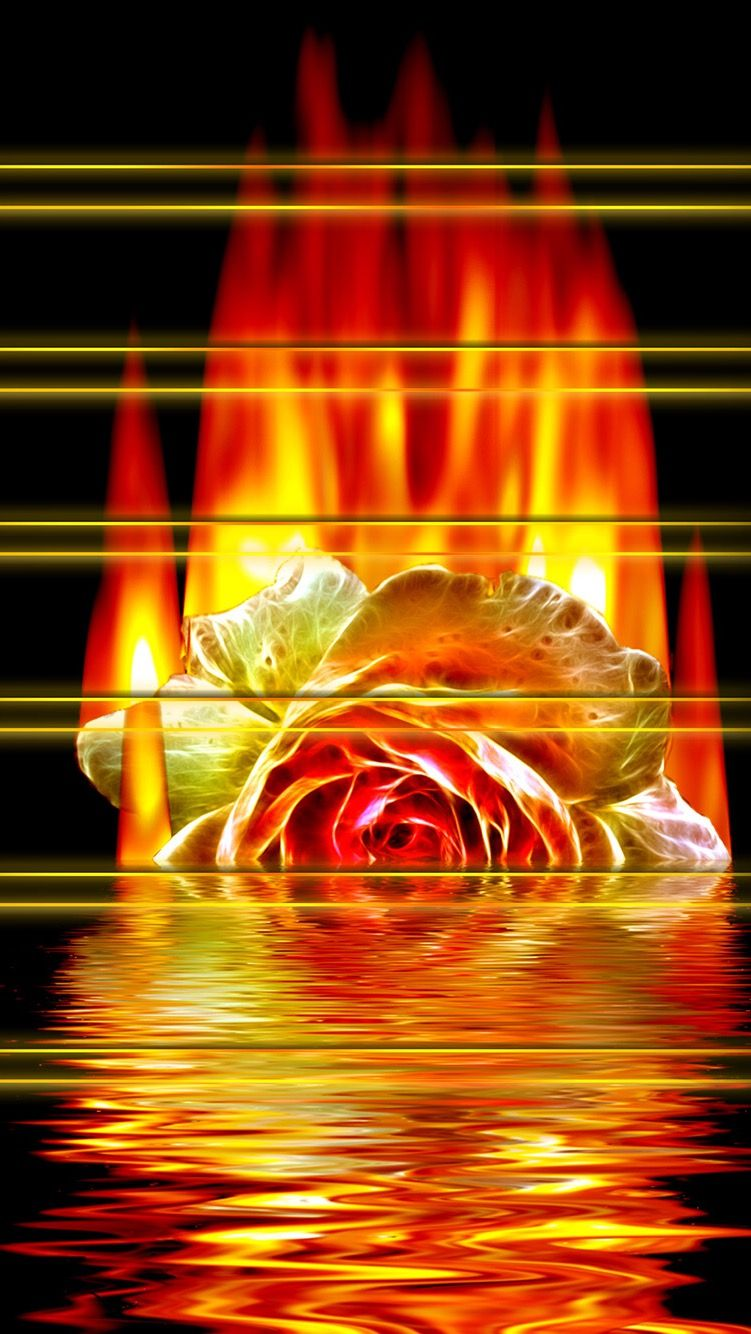 TAP AND GET THE FREE APP! Shelves Flower Fire Water Art