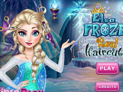 Play Elsa Frozen Real Haircuts Games Elsa Frozen Real Elsa Frozen Frozen Games