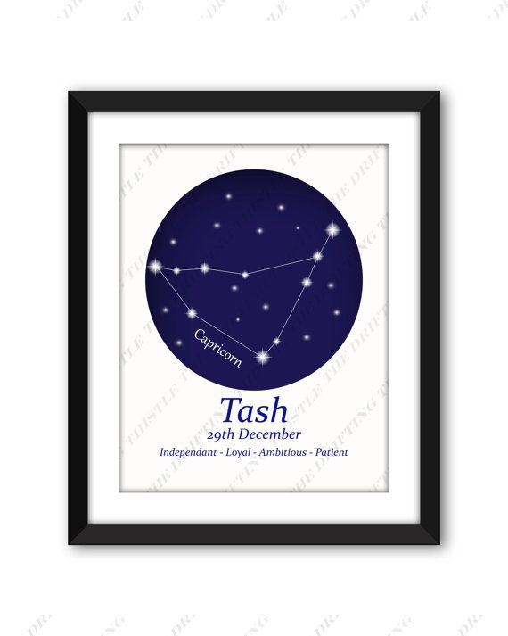 Astrology Print Zodiac Constellation Personalized Star Chart Sign Christmas Birthday Gra